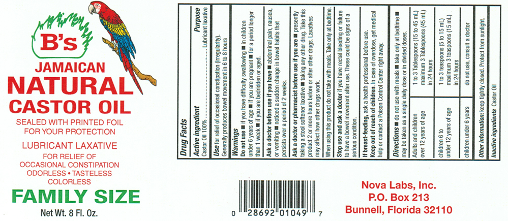 NaturalCastorOil8oz - B's Hair and Beauty Products